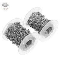 10 Meter/rol 1.5mm 2mm Zilver Tone Rvs Curb Bal kralen Satelliet Chain O Ring Bulk Schakelkettingen voor Sieraden maken