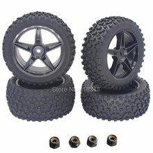 4 unids/pack RC Neumáticos y Llantas 12mm Hexagonal Inserto De Espuma Para 1/10 coche fit hsp xstr buggy ojiva redcat tornado s30 shockwave Nitro