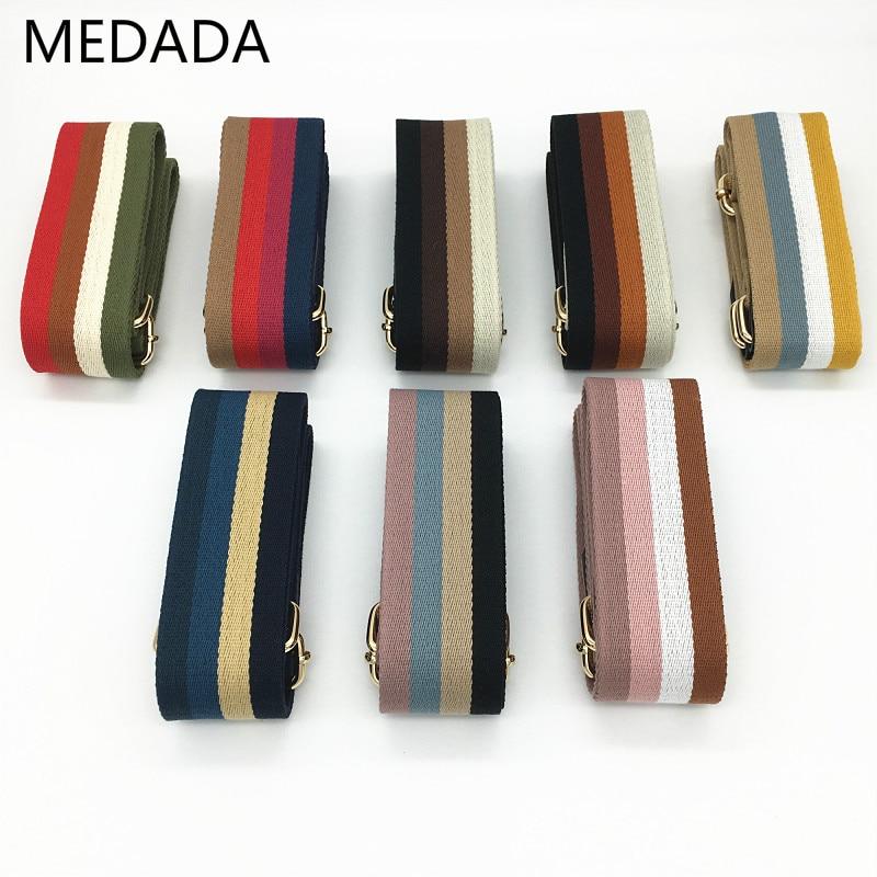 Нейлоновый ремень MEDADA, цветная сумка, широкий ремень, аксессуары, ручки, регулируемый ремень для сумки 130 см|Детали и аксессуары для сумок|   | АлиЭкспресс
