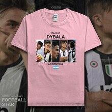 fedcc92bbfe1 Paulo Dybala t shirt 2018 jerseys Argentina footballer star tshirt 100%  cotton fitness t-