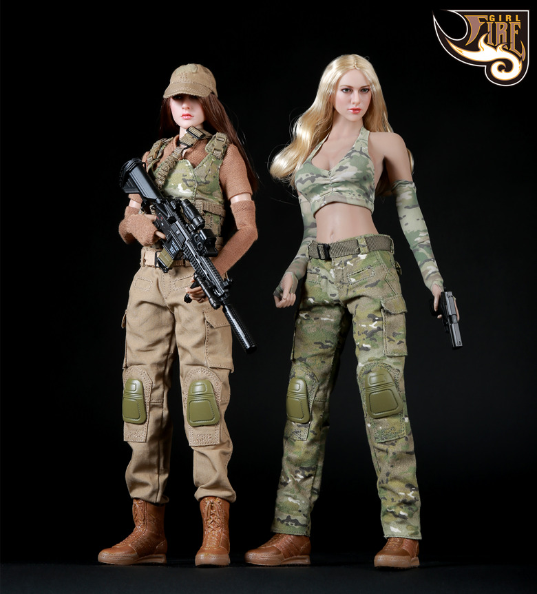 Fire Girl Toys 1/6 Scale Female Soldier Spnier Clothes Tactical Shooter Set FG003 For Phicen Jiaodol Action Figure 1 6 scale full set soldier the lord of the rings elven prince legolas action figure toys model for collections