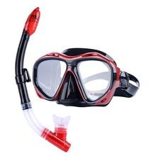 366e27928 YaHey Underwater Scuba Máscara de Mergulho Lente de Vidro Temperado  Anti-nevoeiro óculos de Natação Snorkel Respirador Máscara D..