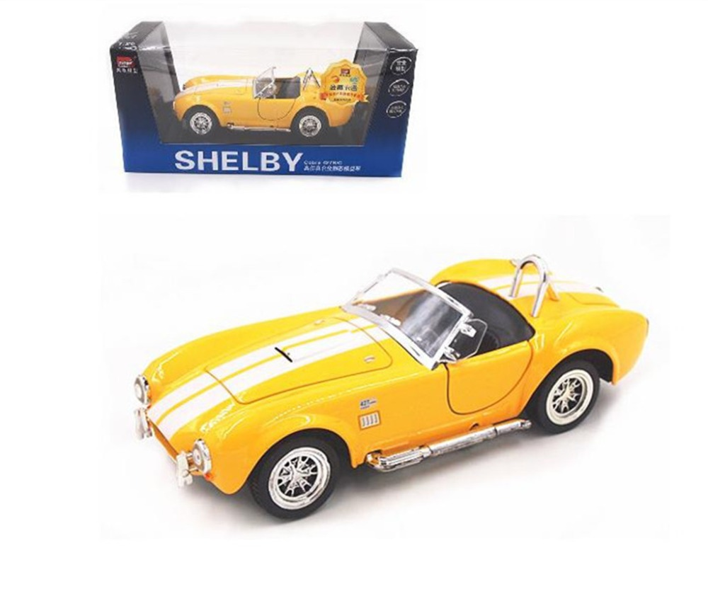 1 26 ford 1965 shelby cobra 427s c metal diecast model toy car yellow
