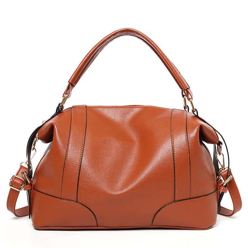Female package 2019 new bag ladies classic leisure fashion soft bag ladies his hand the bill of lading shoulder bag in Shoulder Bags from Luggage Bags
