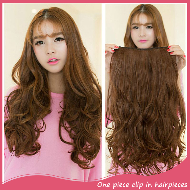 Clip In Synthetic Hair Extensions Long Wavy Curly Hair 5 Clips