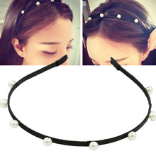 2018 Fashion Girls Hairbands Pearl Headbands Hot selling Simple Style Wedding Headwears for Women Sweet Lovely Hair Accessories