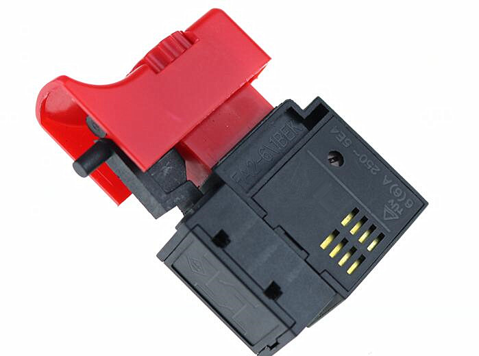 1PCS <font><b>FA2</b></font>-<font><b>6</b></font>/<font><b>1BEK</b></font> 250V 6A 5E4 Red+Black Lock On Power Tool Electric <font><b>Drill</b></font> Trigger <font><b>Switch</b></font> Electric tool fittings <font><b>switch</b></font> image