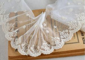 3 м/лот, кружевная отделка с бежевыми цветами, вышитая кружевная сетчатая ткань в стиле пэчворк, ширина 9 см|embroidered lace|flower lacelace mesh fabric | АлиЭкспресс