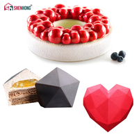 SHENHONG 3PCS SET Cloud Diamond Silicone Mould Series Desserts 3D Art Cake Mold Baking Chocolate Mousse