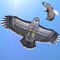 Envío de la alta calidad 1.8 m águila cometas kite flying superior con línea carrete de la cometa búho animal pájaro de juguete al por mayor partes