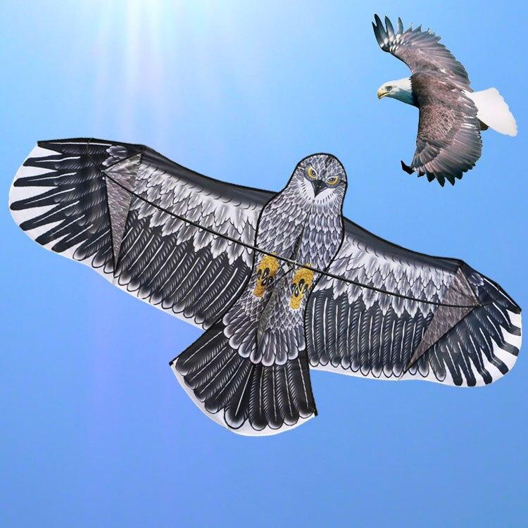 Envío de la alta calidad 1.8 m águila kite Flying superior con carrete línea búho cometa cometas animales pájaro al por mayor juguete partes