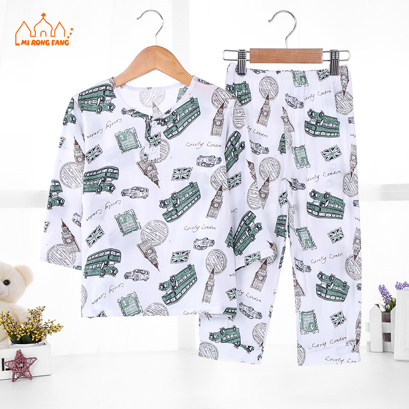 Baby Boys Pajamas Clothing Sets Cartoon Full Sleeve Pajamas Tops Bottoms 2 Pcs Kids Children Sleepwear Clothes 6 8 10 12 Years 2018 kids pajamas sets baby girl and boys clothes teenage girls pajamas suits long sleeve tops and pants 2 pieces clothing sets