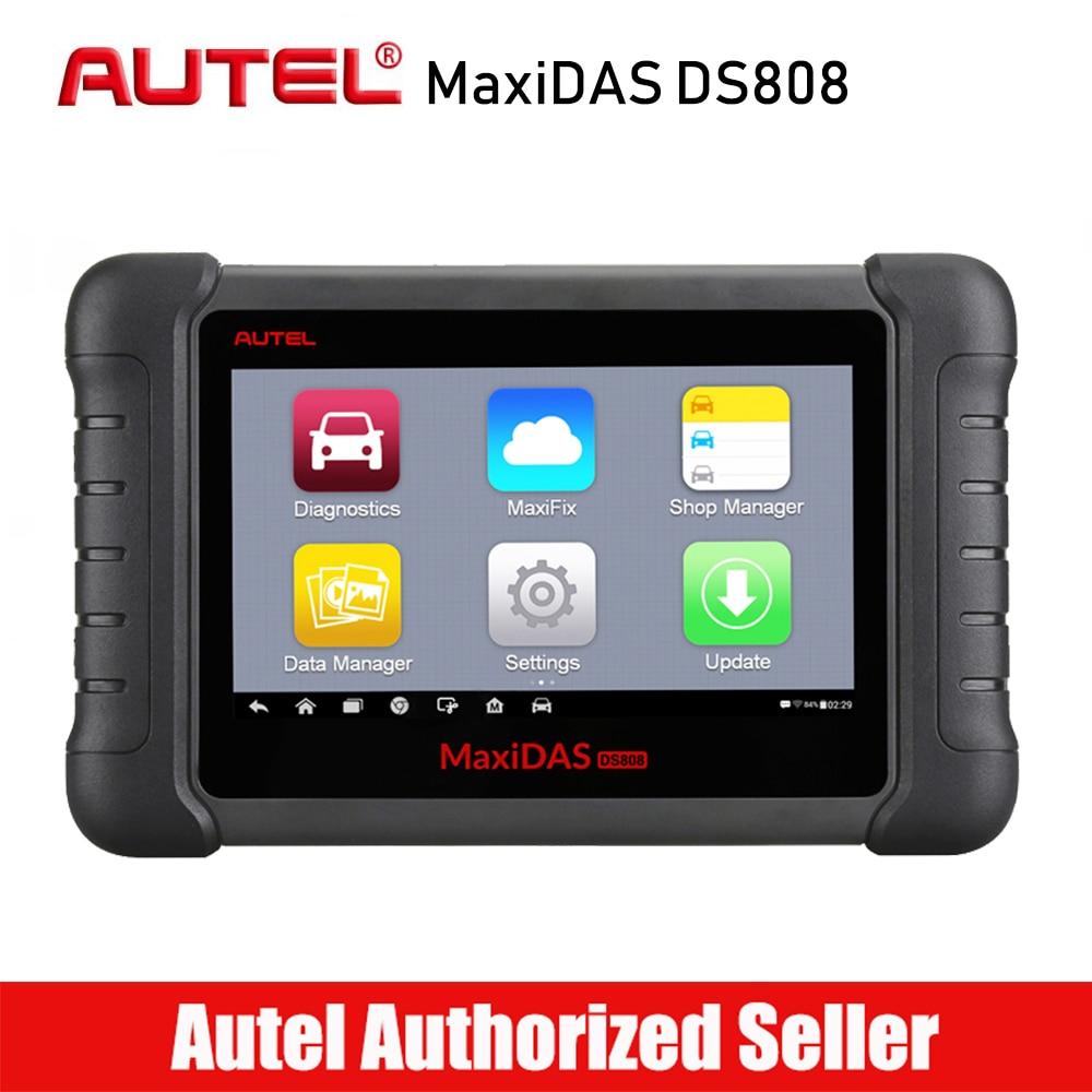Autel MaxiDAS DS808 Tous Les Système De Voiture Outil De Diagnostic Professionnel Auto OBD OBD2 Code Lecteur Scanner Huile Réinitialisation TPMS SAS EPB DPF