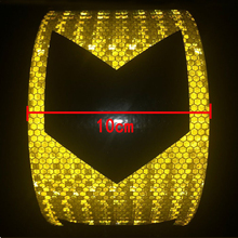 10cm width  High quality Car Accessories Reflective car Stickers Adhesive Tape For Safety
