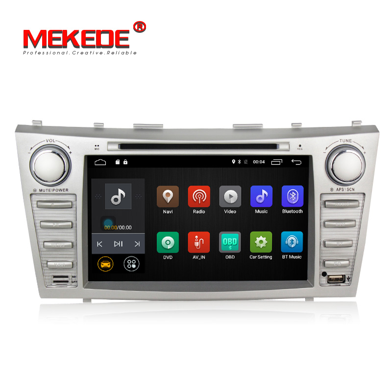 Prix bas 1024*600 2Din Android7.1 2 GB RAM voiture DVD pour TOYOTA CAMRY AURION v40 2007-11 auto radio avec google play