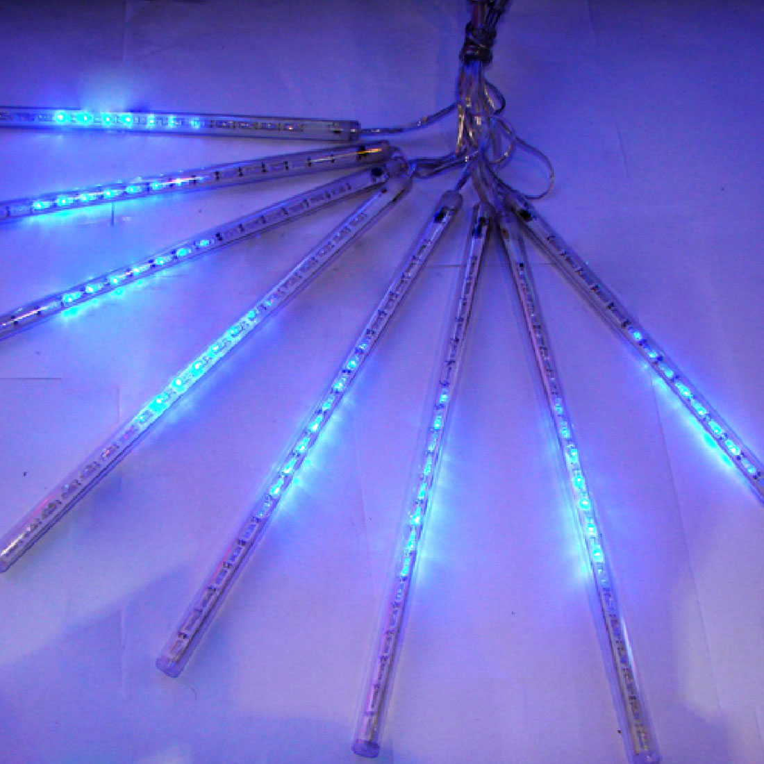 Newest EU/US Plug Multi-color 30CM Meteor Shower Rain Tubes LED Christmas Lights Wedding Garden String Light Outdoor