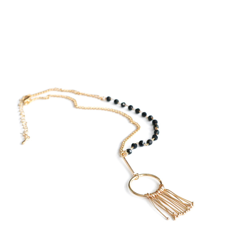 GWACC 2019 NEW Design Gypsophila Tassel Necklace For Women Copper Personality Asymmetrical Statement Fashion Alloy Jewelry boho in Chain Necklaces from Jewelry Accessories