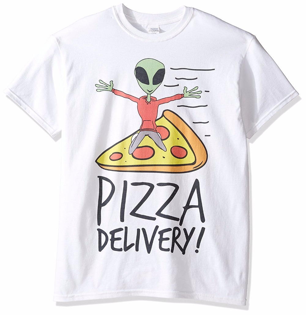 Custom Tee Shirts MenS Short Freeze MenS Pizza Delivery Alien Crew Neck Zomer T Shirts ...