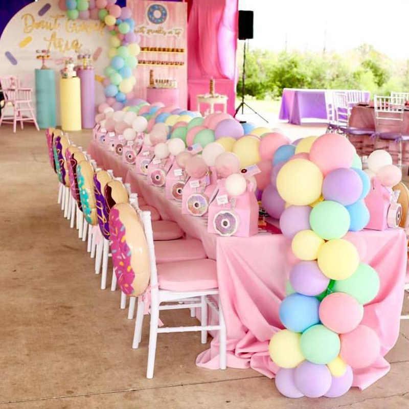 30 шт. 5 дюймов Макарон цвет пастельные воздушные шарики в виде леденцов круглый, из латекса Гелиевый шар для дня рождения