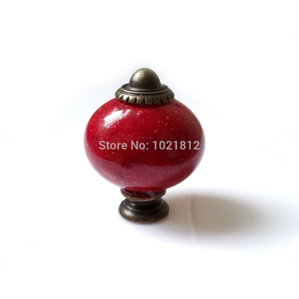 5pcs Red Oval Imitate Stone Acrylic Cabinet Knobs Cupboard Dresser  Furniture Drawer Knobs Handle Pulls Kitchen Kidu0027s Room In Cabinet Pulls  From Home ...