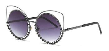 Hot 2018 Fashion Sunglasses Women Luxury Brand Designer Vintage Sun glasses Female Rivet Shades Big Frame Style Eyewear 364M 5
