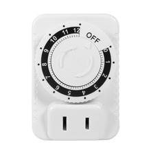 New 220V 12 Hour Electrical Mechanical Timer Wall Plug Switch Digital Countdown Socket White