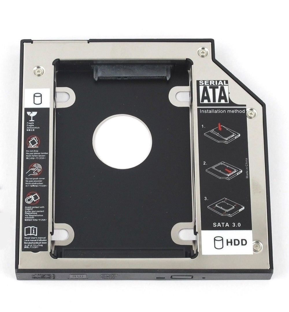 WZSM 12.7mm SATA 2nd HDD SSD Hard Drive Caddy for <font><b>DELL</b></font> Studio <font><b>1435</b></font> 1440 1457 1735 1737 1745 1747 XPS 1640 1645 1647 image
