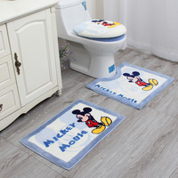 Cartoon Bathroom Toilet Set Seat Cover Bath Mat Closestool Lid Cover+O Ring+U Shape Mat+Carpet 4pcs/set Toilet Seat Cushion Set