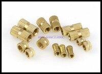 Метрическая резьба M4x4, 5,6, 8,10, 12 мм (L)-6 мм (OD) Латунные накатные гайки утопленные детали медь Knurl Гайка Новый