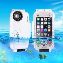 Для iPhone 7 Чехол водонепроницаемый 40 м/130ft подводный Камера Корпус принимать фото Водонепроницаемый Дайвинг чехол для iPhone 7 Принципиально Coque