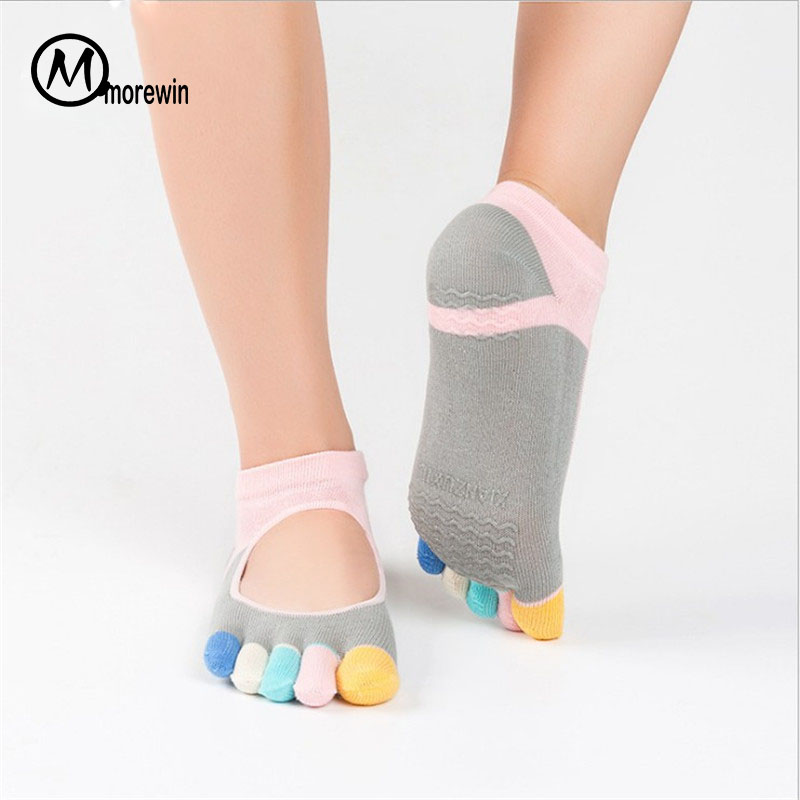 5pairs Women Yoga Sock Pilates Five Toes Anti Slip Шұлықтар - Спорттық киім мен керек-жарақтар - фото 3