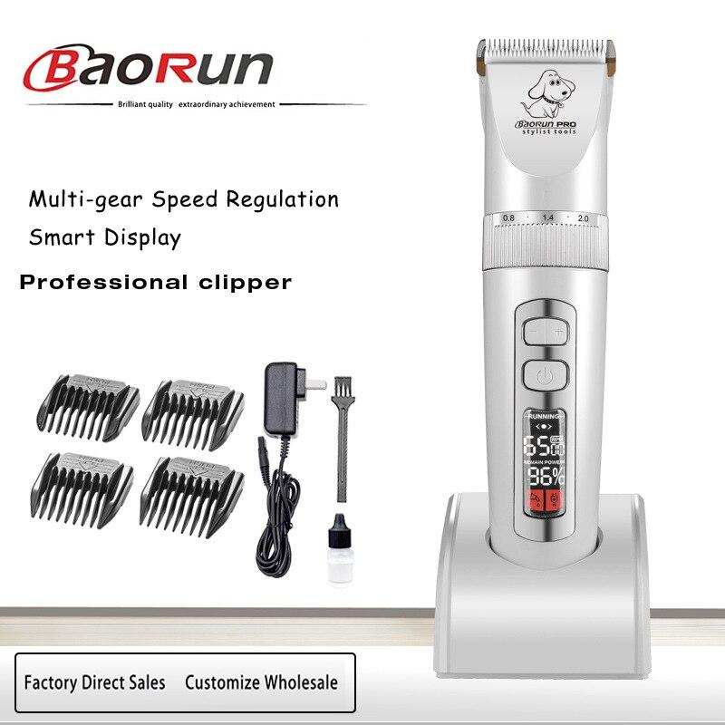 Électrique Rechargeable toilettage tondeuse Pet tondeuse décapant rasoir chien coupe de cheveux outil P9 adapté pour lapin à poils longs