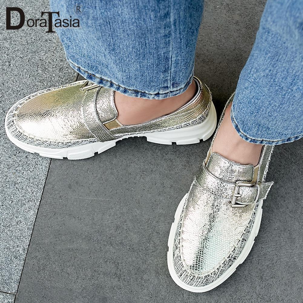 DORATASIA nouvelle mode 2019 taille 34-40 haute qualité livraison directe plate-forme chaussures Brogue femme appartements INS appartements chauds femme chaussures