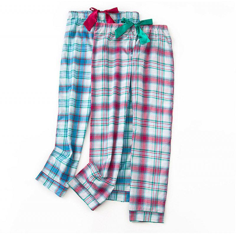 Kraftvoll 2019 Frühling Plus Größe Homewear Hosen Frauen Casual Plaid Nachtwäsche Unterseite Damen Lange Länge Nighty Hosen Weibliche Baumwolle Hose Schlafhosen