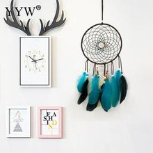 Dream Catcher Kids Room Decoration Scandinavian Nordic Style Wind Chimes Dreamcatcher Net for Wall Hanging  Feather Crafts