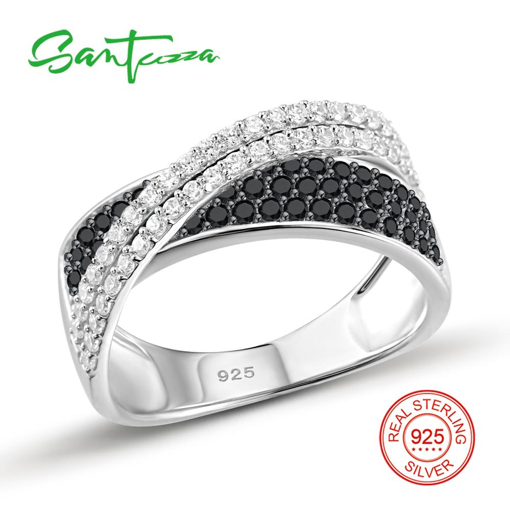SANTUZZA Sølvring til kvinder 925 Sterling Sølv Fashion Runde Ringe - Mode smykker - Foto 2