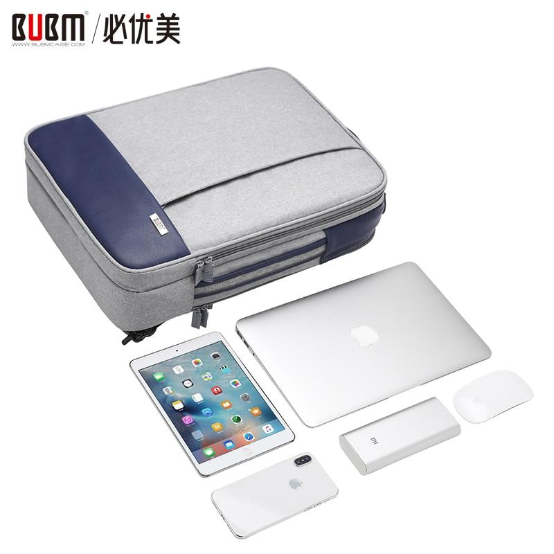 BUBM sac pour 9.7 pouces ipad 15.6 pouces pochette d'ordinateur pour ordinateur paquet numérique réception stockage organisateur étui de transport
