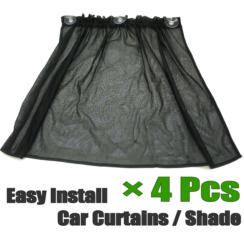 Preferred Car Curtains Side Rear Window Cover Shade Easy DIY Install Simple  IH55