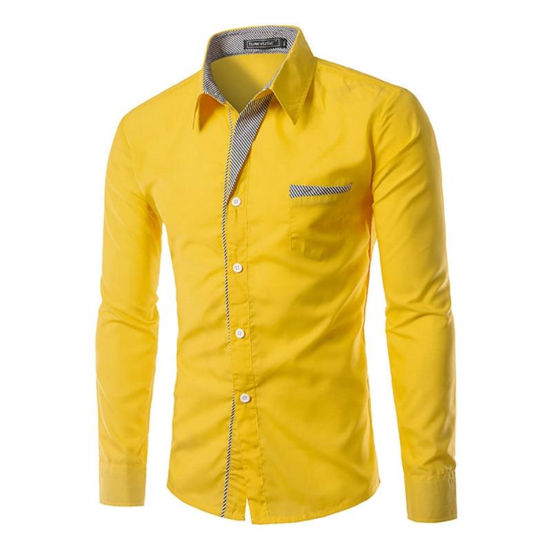 2019 NEW Camisa Masculina Slim Fashion Men Shirt Brand Casual Long-Sleeved Chemise Homme Plaid Camisa Masculina Big Size M-4XL Z