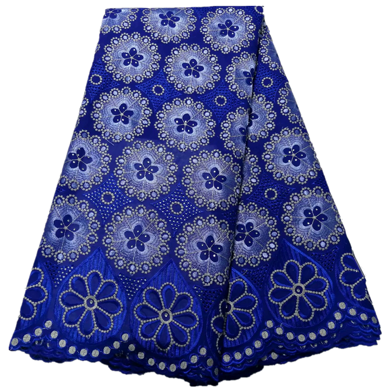 swiss lace fabric embroidered african voile lace cotton fabric high quality blue lace for wedding