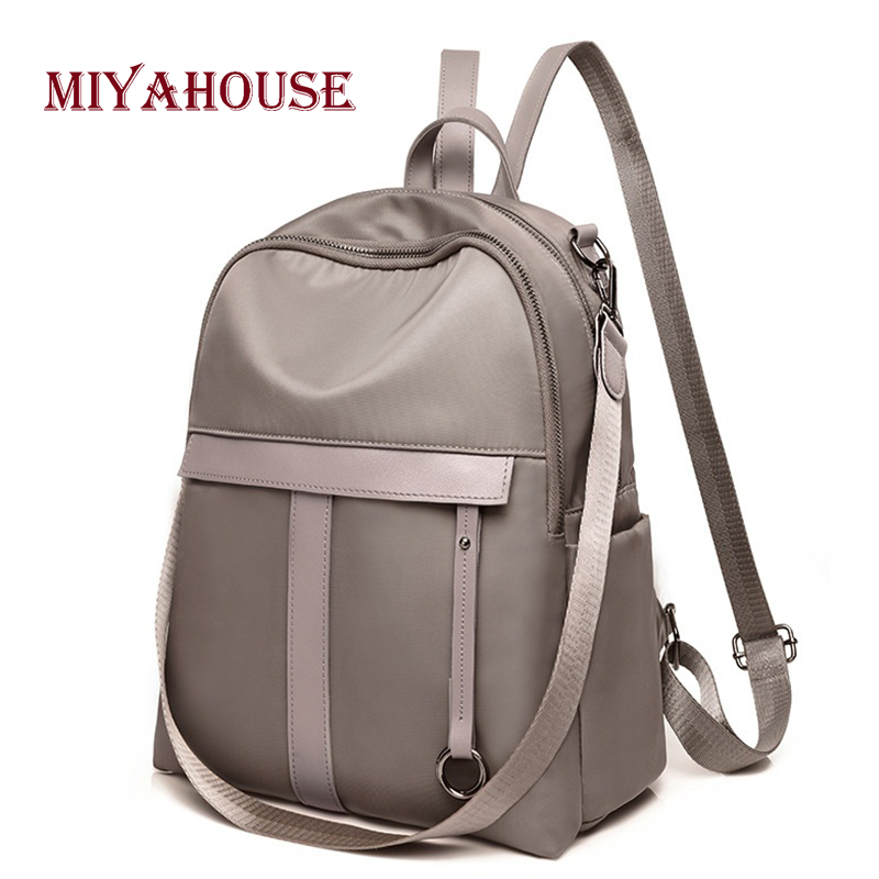Miyahouse New Arrival Women Backpack Korean Fashion Nylon Travel Rucksacks Teenager Girls Casual School Bag Female Backpack