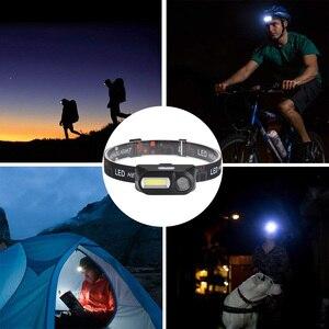 Image 5 - Linterna frontal LED superbrillante para acampada al aire libre, XPE + USB COB, carga de pesca, resistente al agua, 18650