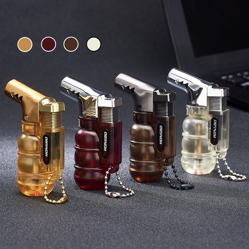 Image 2 - NEW Compact Butane Jet Lighter Torch Turbo Pipe Lighter Mini Spray Gun Cigar Lighter Windproof 1300 C No Gas-in Matches from Home & Garden