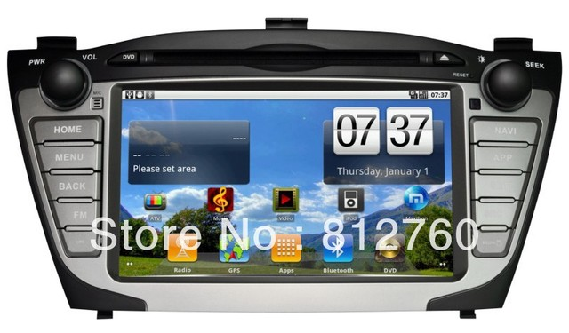 New Android dvd player for Hyundai IX35 GPS Radio BT IPOD USB/SD optional DVB-T,Support 3G wifi,free shipping!!