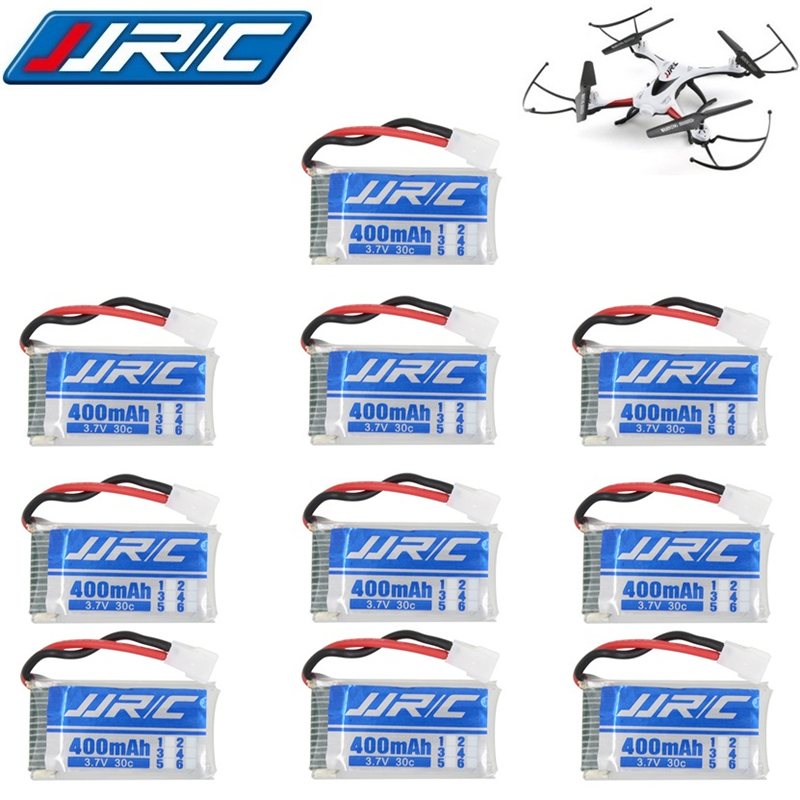 10pcs/lots JJRC H31 Original Battery JJRC Spare Parts 3.7V 400mah 30C Battery H31 Lipo Battery 3.7 V 400mah For JJRC H31 Battery