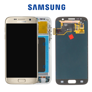 Image 2 - 5.1 SUPER AMOLED  Burn shadow LCD For Samsung Galaxy S7  Display With Frame G930 G930F LCD Screen Digitizer Assembly