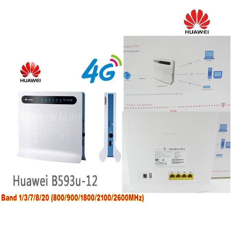 Lot of 10pcs Unlocked New Huawei B593 B593u-12 4G LTE 150Mbps CPE Router with Sim Card Slot with 4 La+ B593 4g SMA antenna стоимость