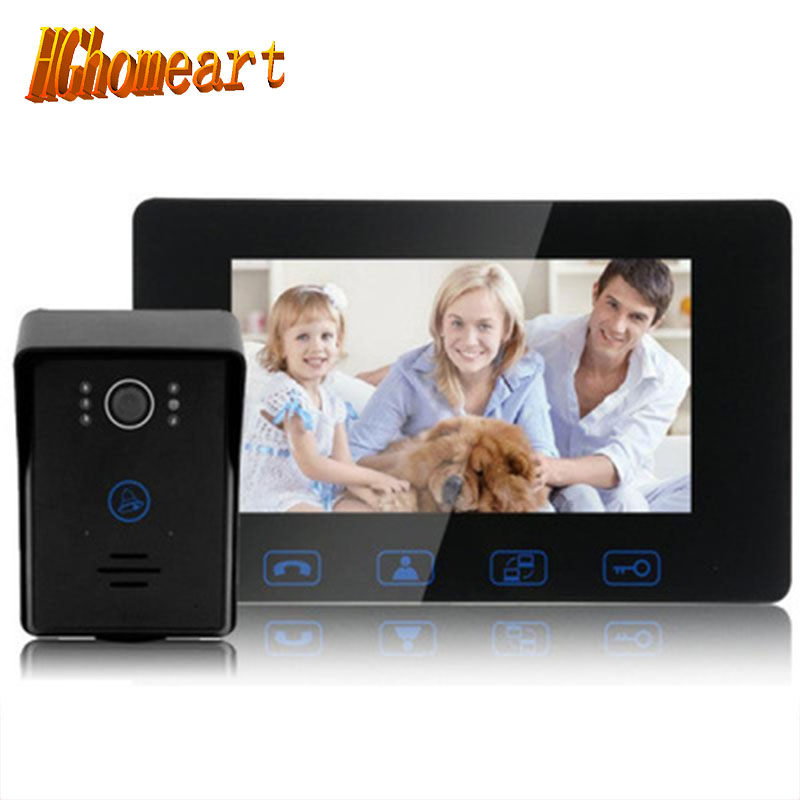 HGhomeart 7 inch color hd visual doorbell for the doorbell
