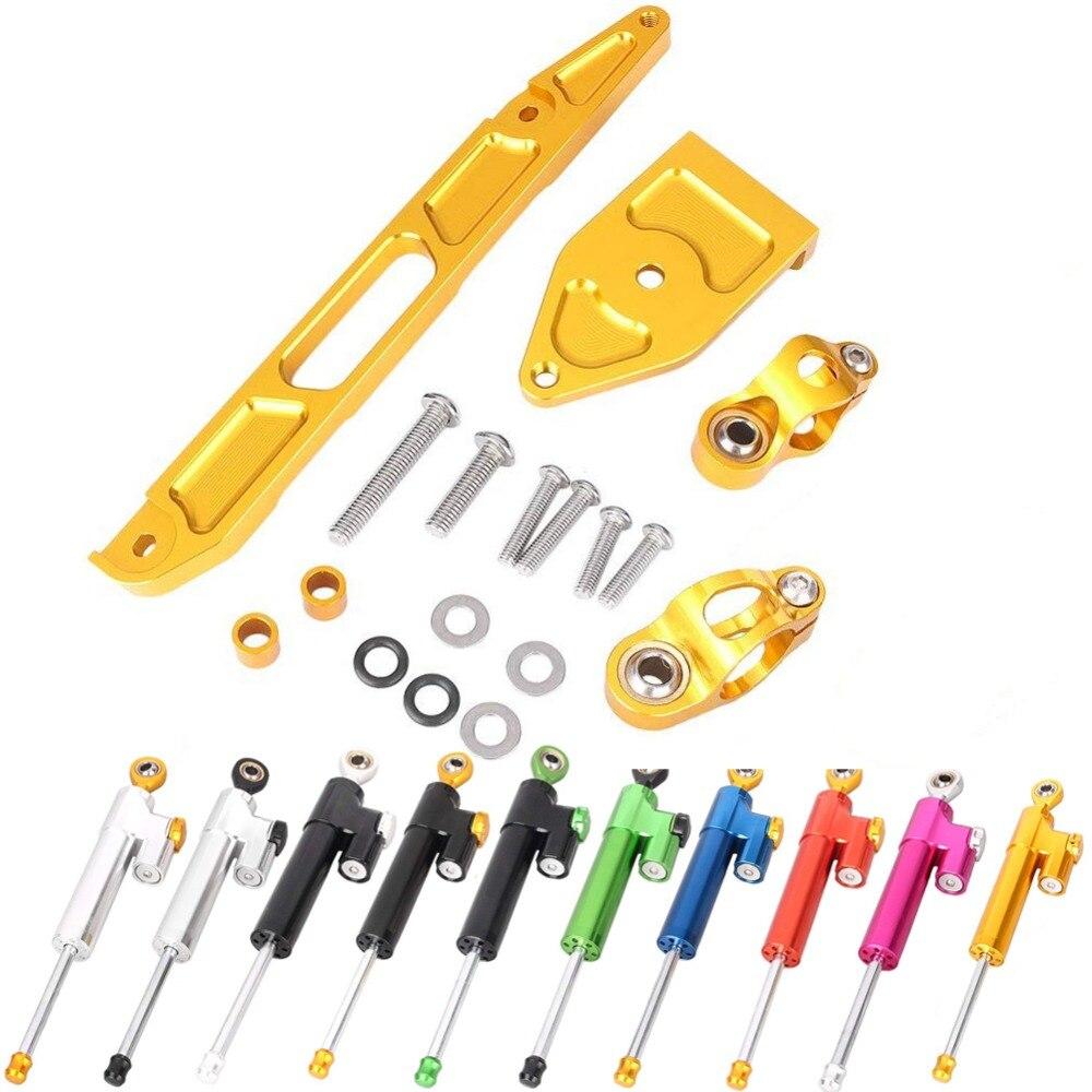 ALLGT Steering Damper Complete Set For Yamaha XJR1300 2002 2003 2004 2005 2006 2007 2008 2009 2010-2015 W/bracket Kits