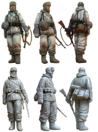 1/35 Resin Figure German Panzergrenadiers 1pc Model Kits